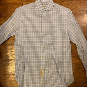 Gitman Bros. Light Blue Patterned Shirt (M)